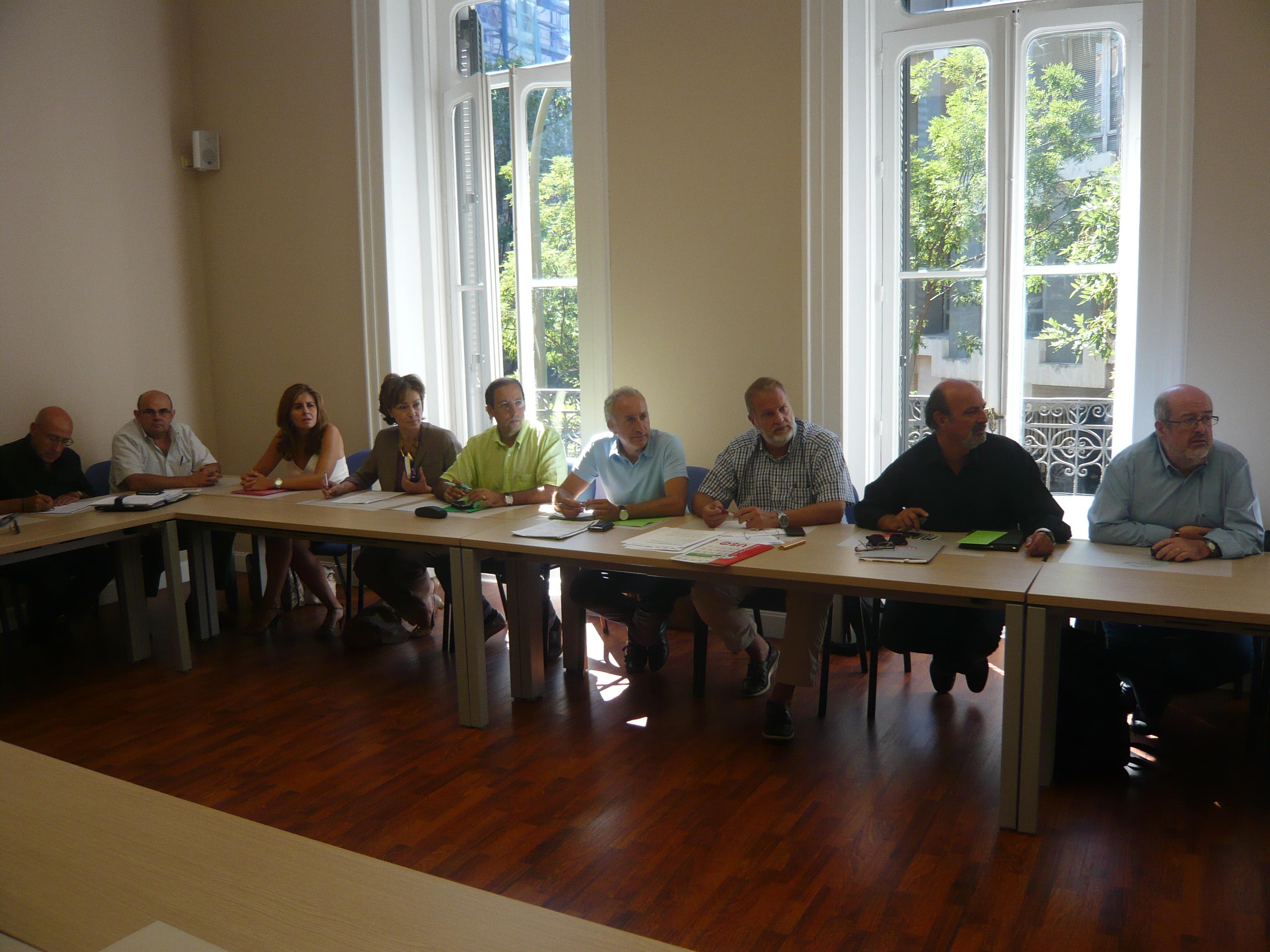Reunión de la Plataforma Sindical (13 de septiembre de 2012)